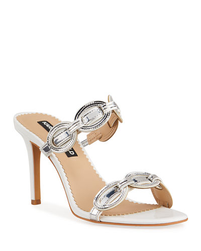 Southwestern Metallic Mule Sandals