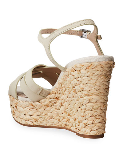 Madalaine Crisscross Leather Espadrilles