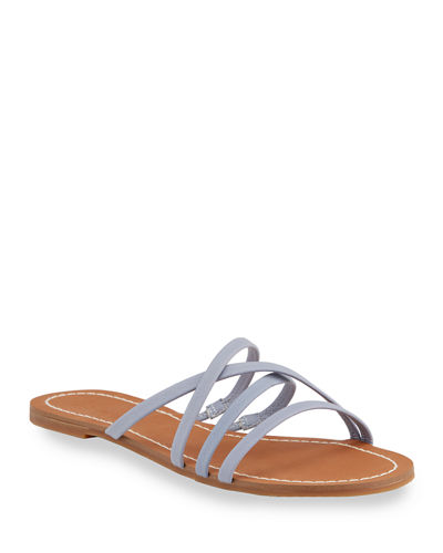 Mia Strappy Leather Slide Sandals