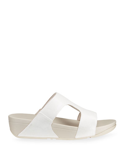 Metallic Slide-On Sandals
