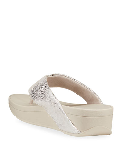 Swoop Toe-Post Leather Thong Sandals