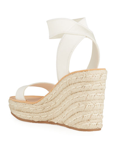 Pasha Stretch Pull-On Wedge Espadrilles