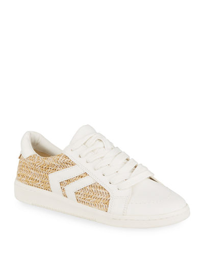 Nica Novelty Snake-Printed Leather Low-Top Sneakers
