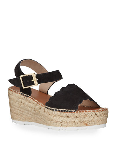 Cacia Platform Espadrille Wedge Sandals
