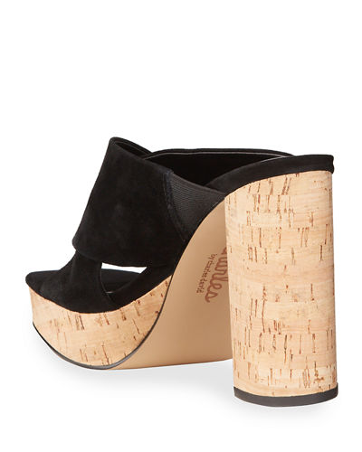 Illy Cork Wedge Slide Espadrilles