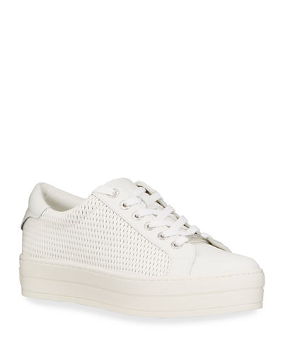 Hilton Laser Metallic Leather Sneakers