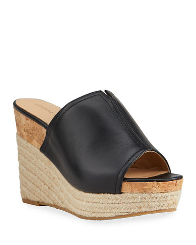 Adrienne Vittadini Cherli Cork and Braided-Jute Leather Wedge