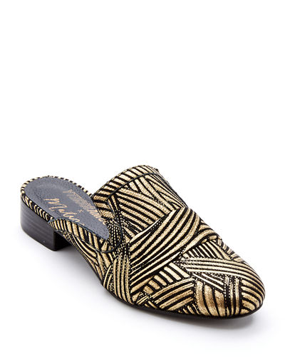 La Bella Art Deco-Printed Mules