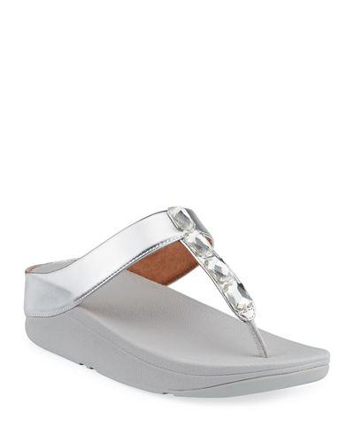 Velda Jewel-Embellished Wedge Sandals