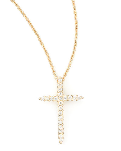 Cross Necklace with Diamonds
