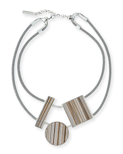 Geometric-Station Statement Necklace