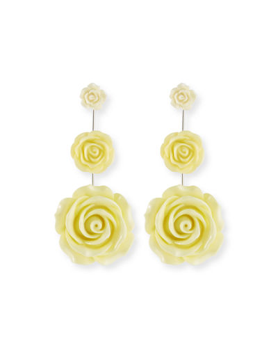 Dannijo Beck Triple Flower Drop Earrings