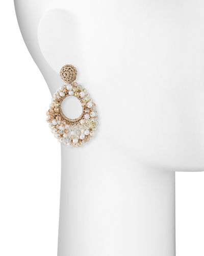 Sienna Beaded Hoop Drop Earrings