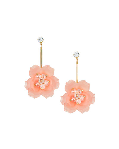 Linear Flower Earrings