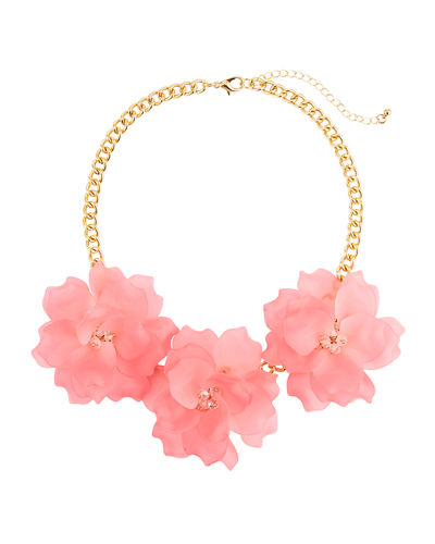 Triple Rose Statement Necklace