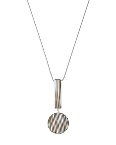 Geometric-Drop Pendant Necklace