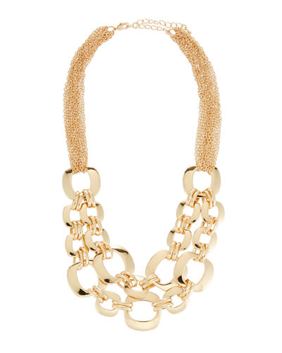 Interlocking Chain & Cutout Link Necklace