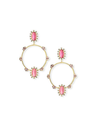 Kendra Scott Gareth Open Hoop Drop Earrings in