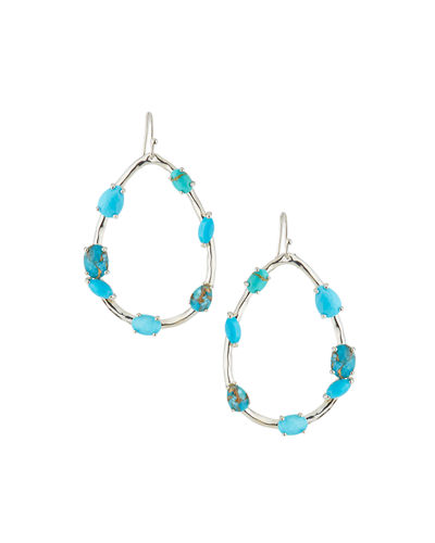 Rock Candy® Large Pear-Shaped Earrings with Mixed Stones in Turquoise