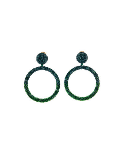 Beaded Hoop-Drop Earrings