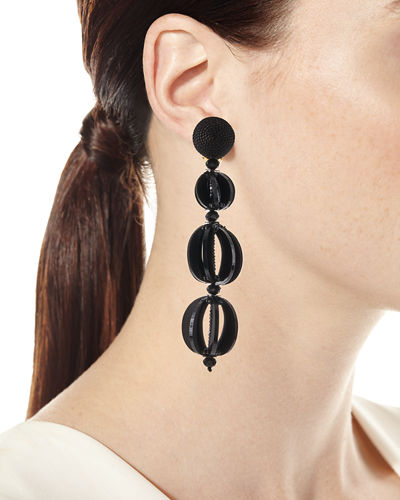 Spliced Globe Statement Clip-On Earrings
