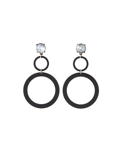 Graduating Rubber Hoop Earrings