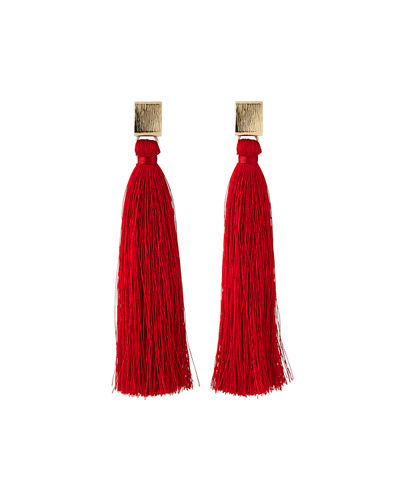 Tassel Post-Back Earrings