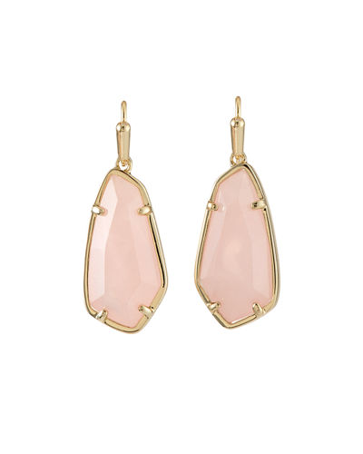 Camelia Drop Earrings  Rose Quartz/Chalcedony