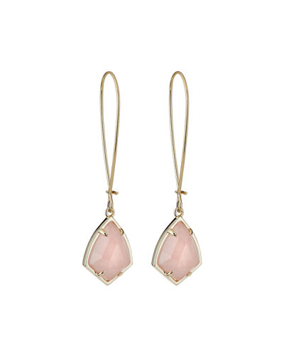 Carinne Drop Earrings  Rose Quartz/Chalcedony