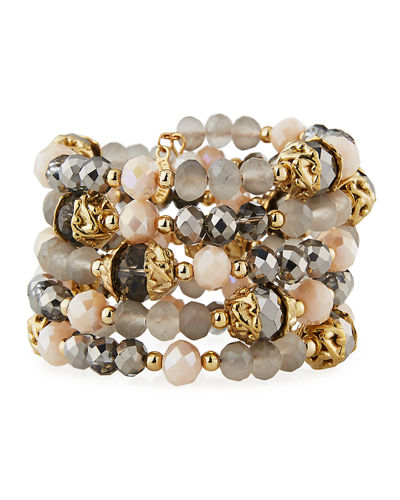 Wraparound Synthetic Stone Bracelet