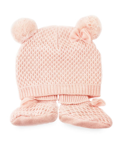 Pom Beanie & Sock 2-Piece Baby Set