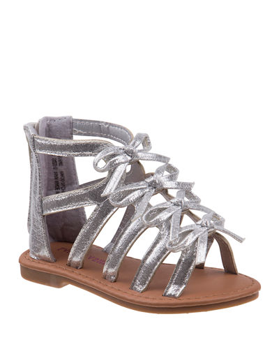 Metallic Mini Bow Gladiator Sandals  Toddler/Kids